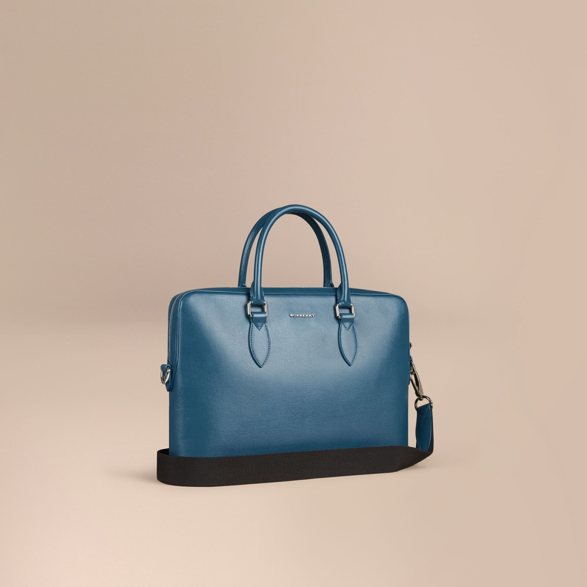 The Slim Barrow in London Leather in Mineral Blue - gallery image 1