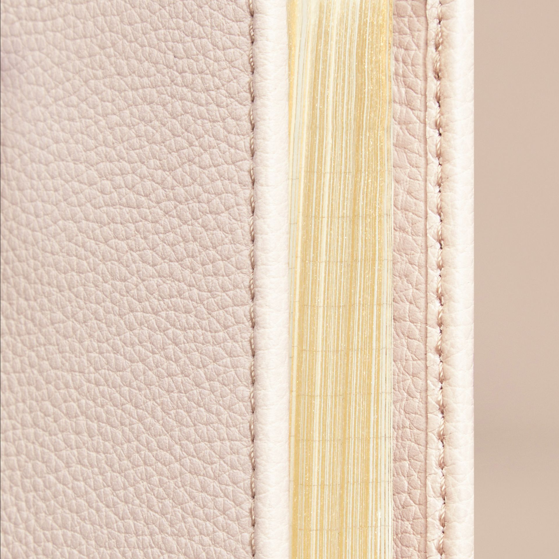 Grainy Leather A5 Notebook in Stone | Burberry - gallery image 2