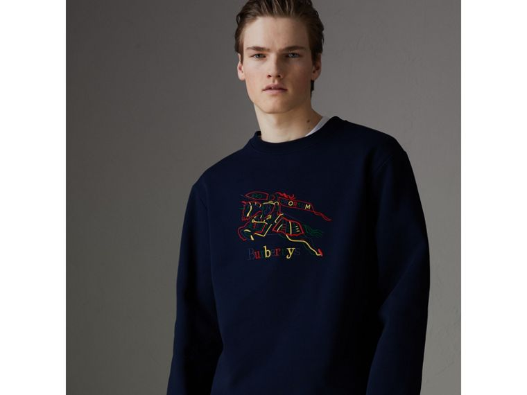 Reissued Jersey Sweatshirt in Dark Blue - Men | Burberry - cell image 4