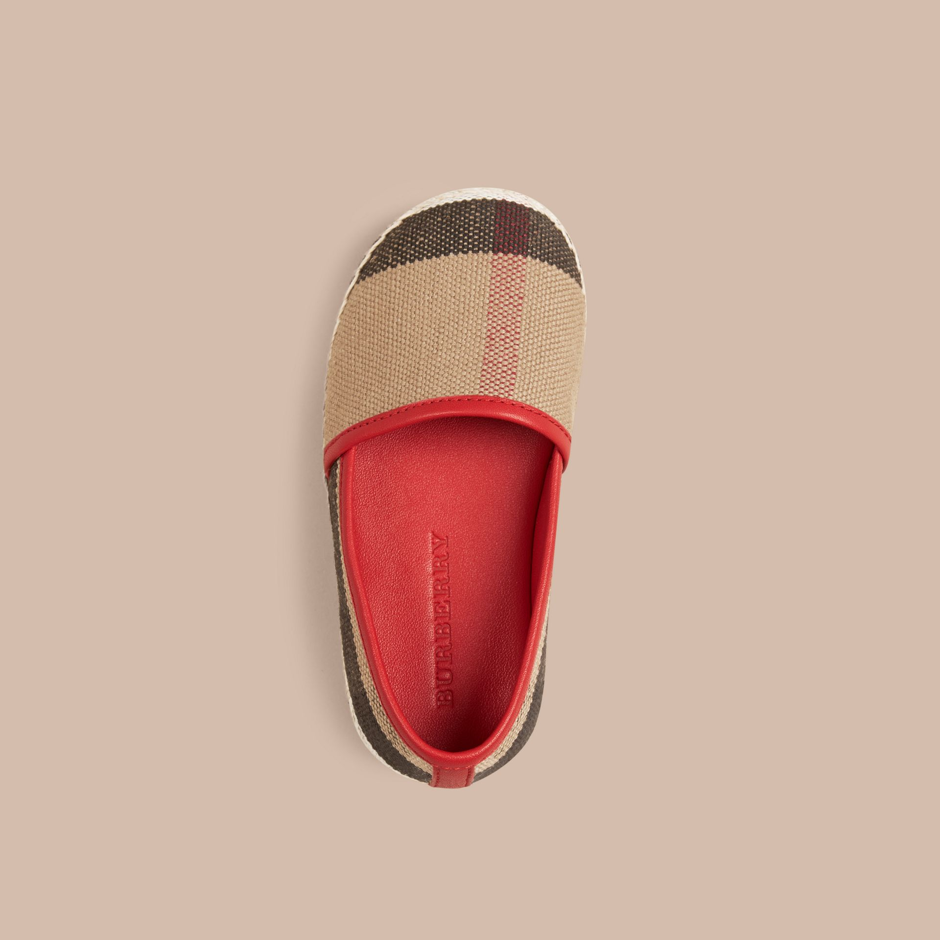 Military red Canvas Check Espadrilles - gallery image 2