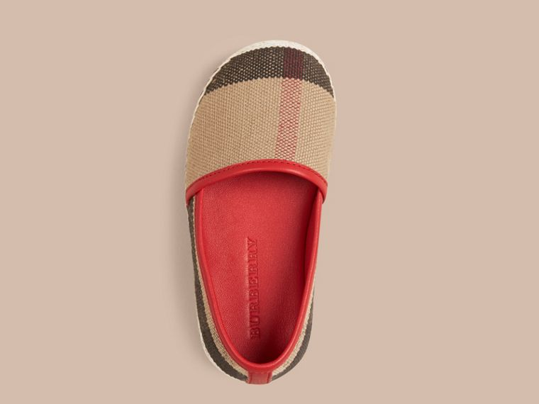Military red Canvas Check Espadrilles - cell image 1