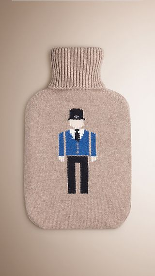 The Bobby Graphic Cashmere Hot Water Bottle Cover