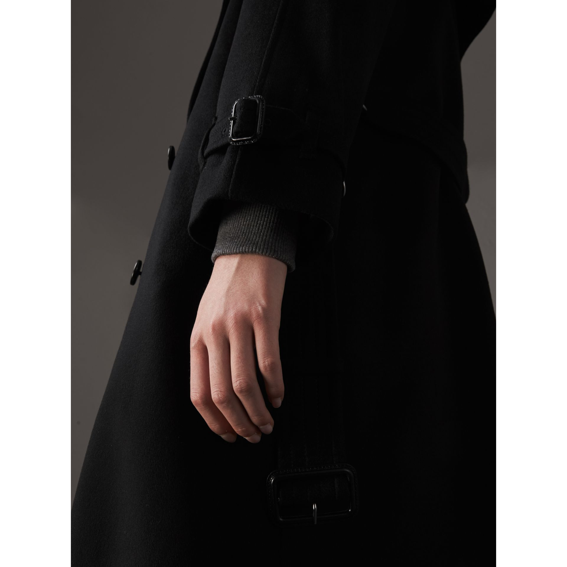 Cashmere Trench Coat in Black - Women | Burberry - gallery image 1