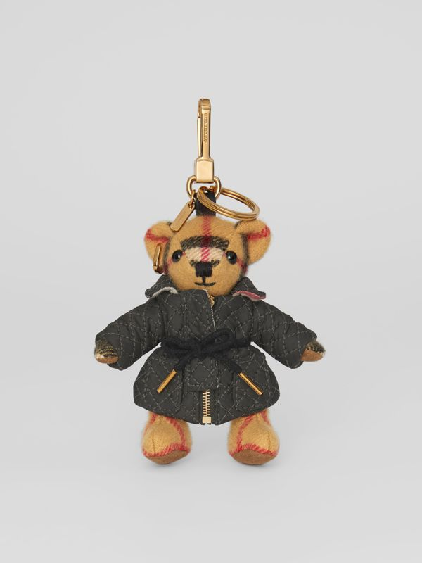 Thomas Bear Charm in Quilted Jacket in Antique Yellow | Burberry - cell image 2
