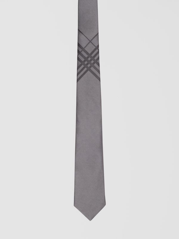 Classic Cut Check Silk Jacquard Tie in Storm Grey - Men | Burberry Hong Kong S.A.R - cell image 3