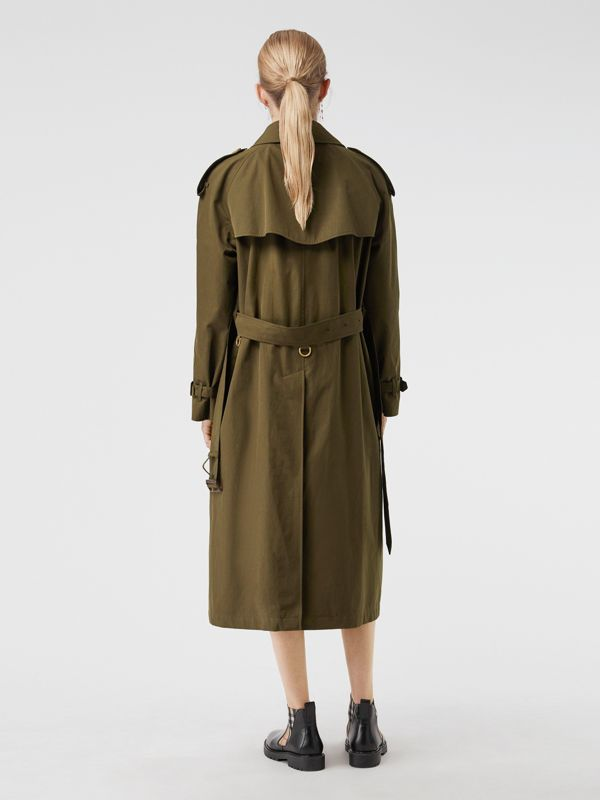 The Long Westminster Heritage Trench Coat in Dark Military Khaki - Women | Burberry Australia - cell image 2