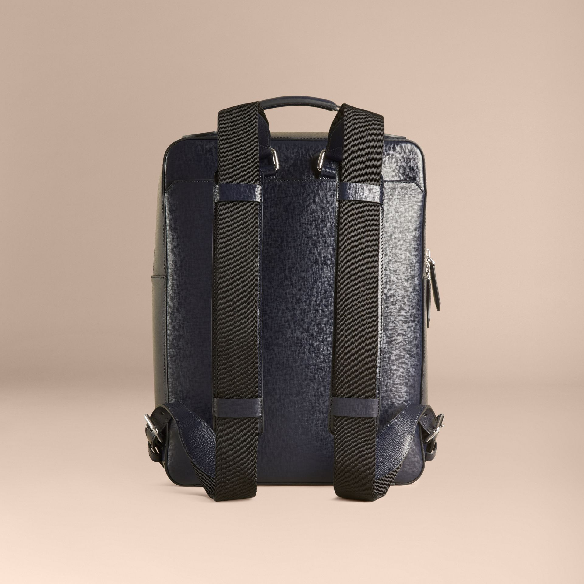 Dark navy London Leather Backpack Dark Navy - gallery image 4