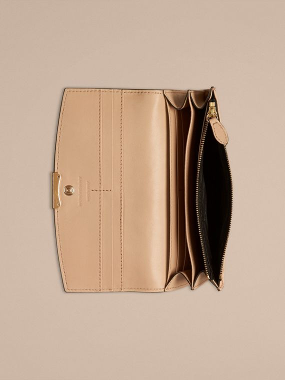 Pale apricot Signature Grain Leather Continental Wallet Pale Apricot - cell image 2
