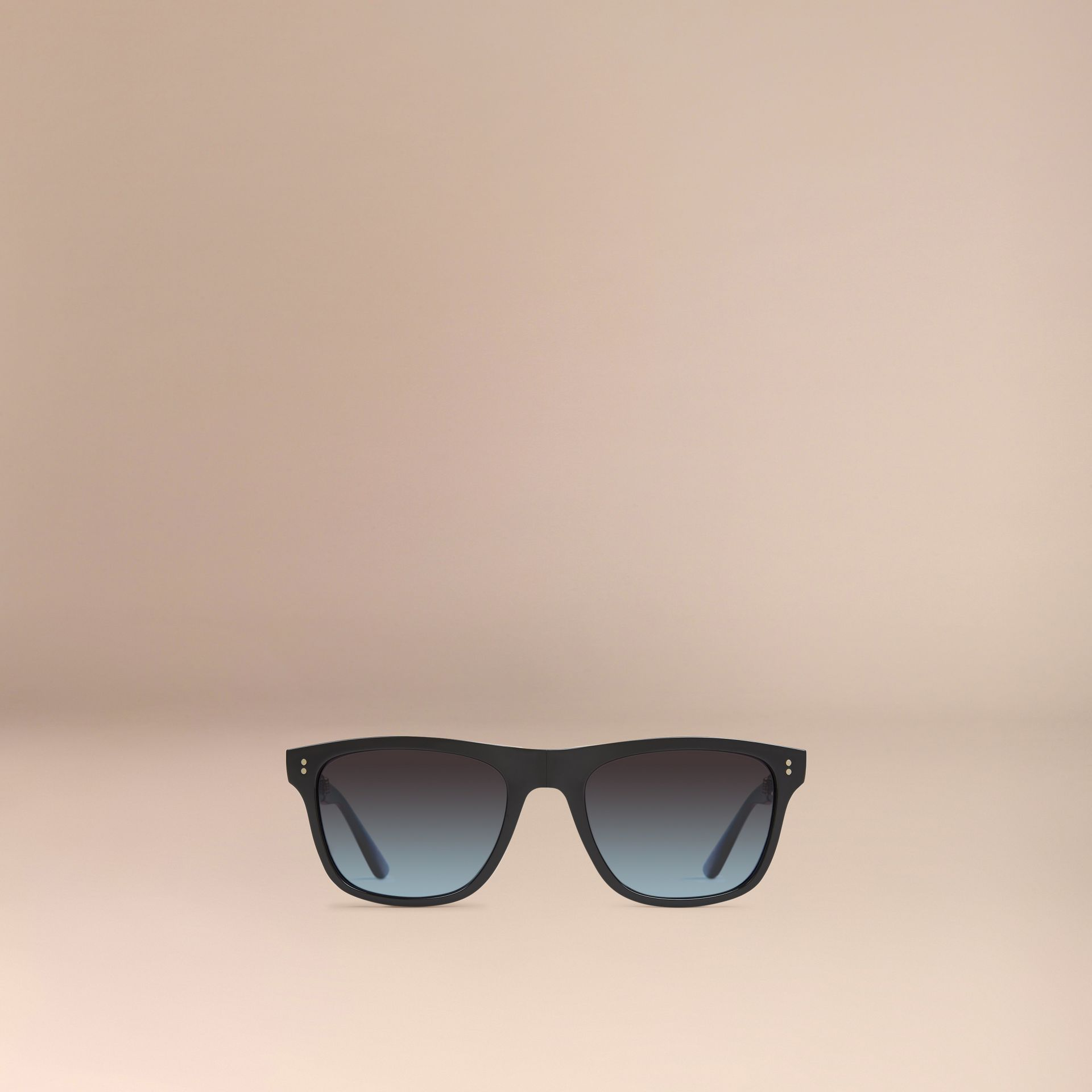 Black Foldable Rectangular Frame Sunglasses - gallery image 2