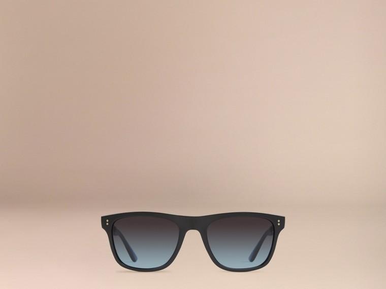 Black Foldable Rectangular Frame Sunglasses - cell image 1