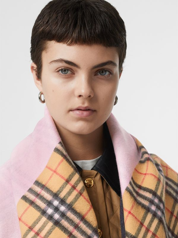 The Burberry Bandana in Vintage Check Cashmere in Pale Rose | Burberry Canada - cell image 2