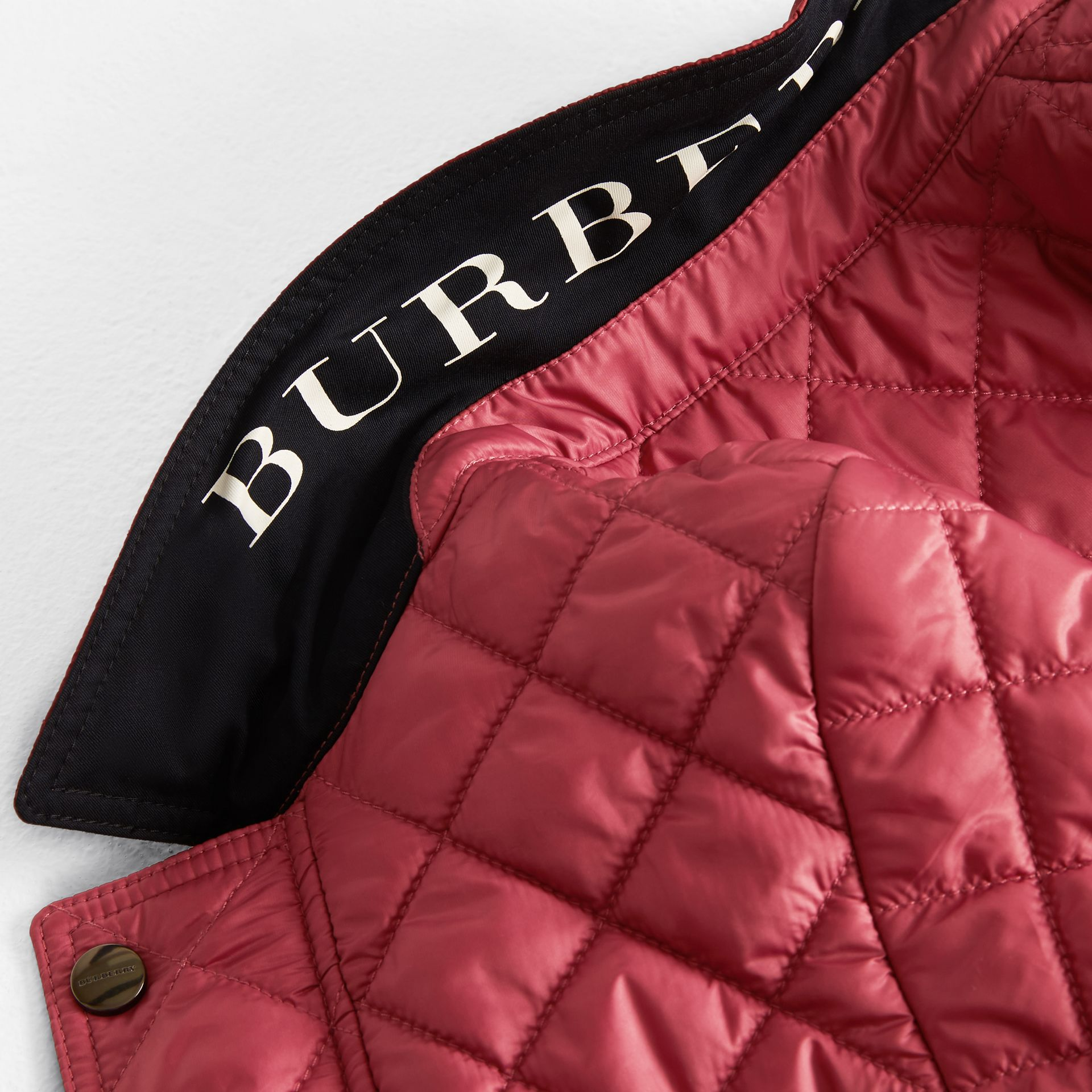 Lightweight Diamond Quilted Jacket in Peony Rose | Burberry United Kingdom - gallery image 1