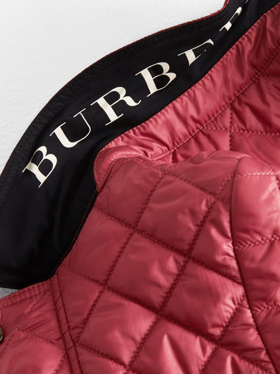 Lightweight Diamond Quilted Jacket in Peony Rose | Burberry - cell image 1