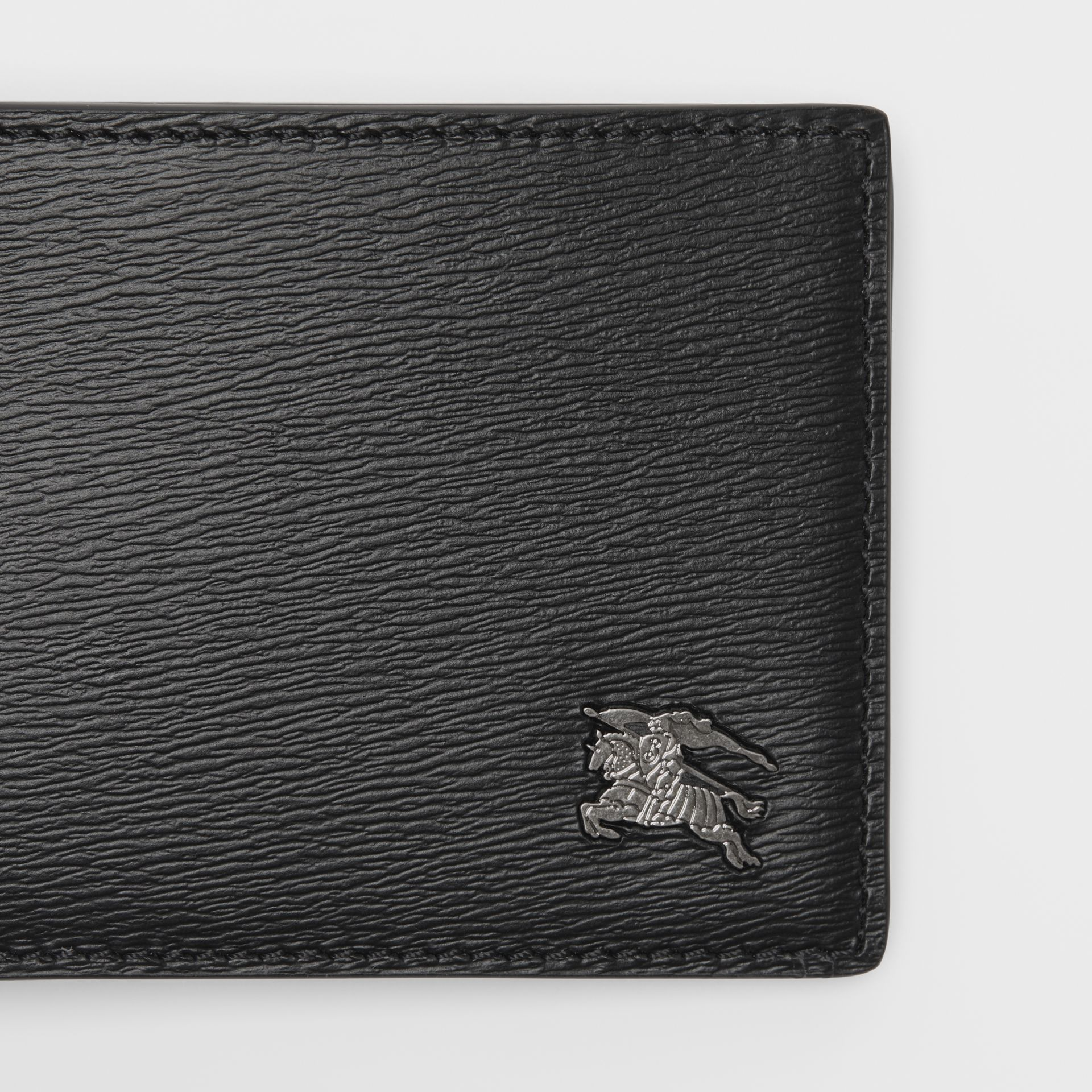 London Leather Bifold Wallet in Black - Men | Burberry Australia - gallery image 1