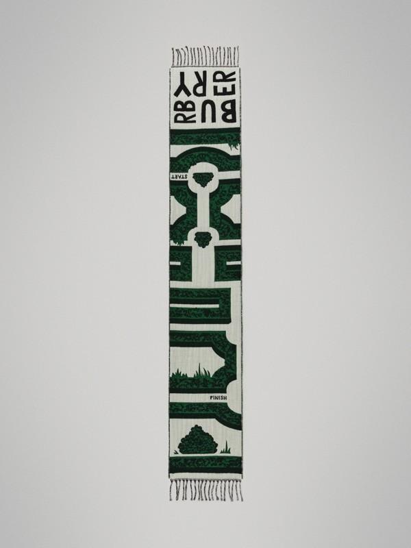 Жаккардовый шарф с узором Hedge Maze (Зеленый Турмалин) - Для детей | Burberry - cell image 2