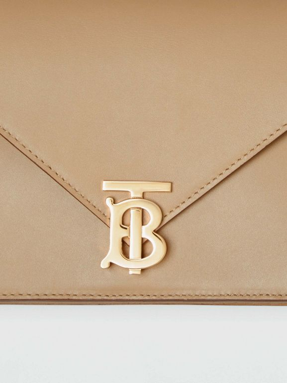 Small Leather TB Envelope Clutch in Honey - Women | Burberry United States - cell image 1