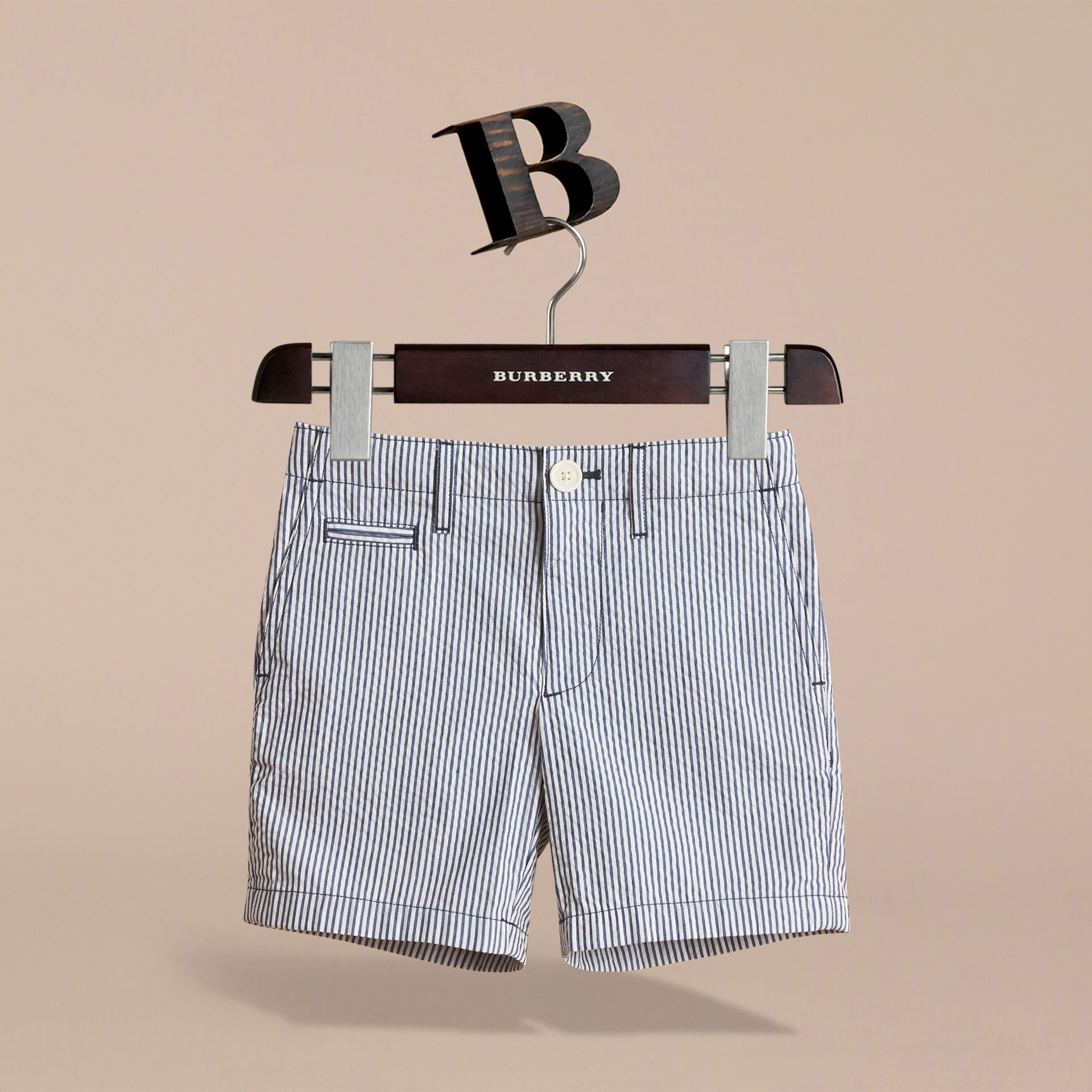 Striped Lightweight Chino Shorts - Boy | Burberry - gallery image 3