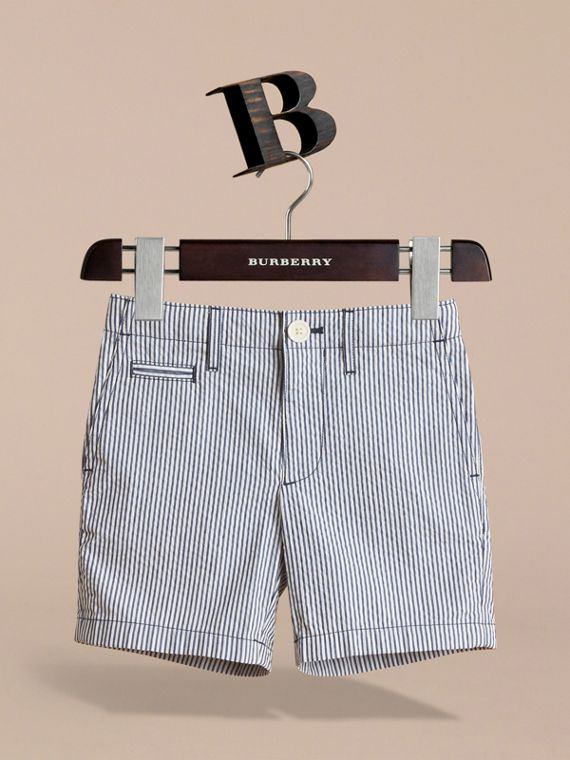 Striped Lightweight Chino Shorts - Boy | Burberry - cell image 2