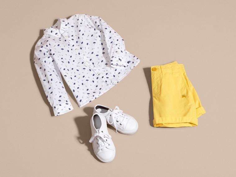 Umbrella Motif Cotton Button-down Collar Shirt - cell image 4
