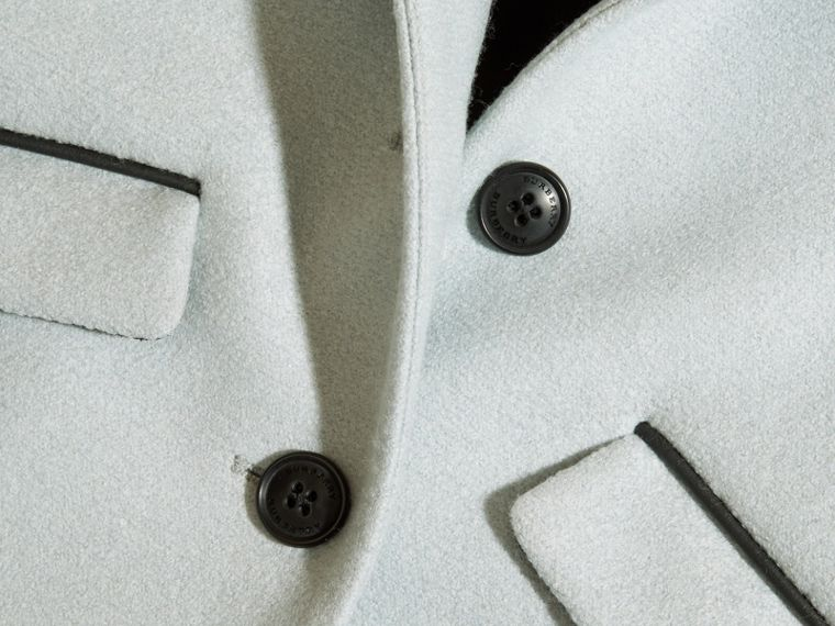 Zip Detail Wool Coat in Pale Eucalyptus - cell image 1