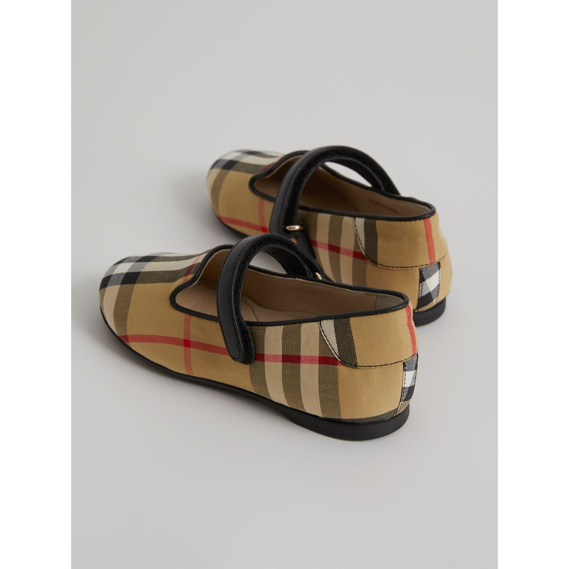 D-ring Strap Vintage Check Slippers in Antique Yellow | Burberry - gallery image 2