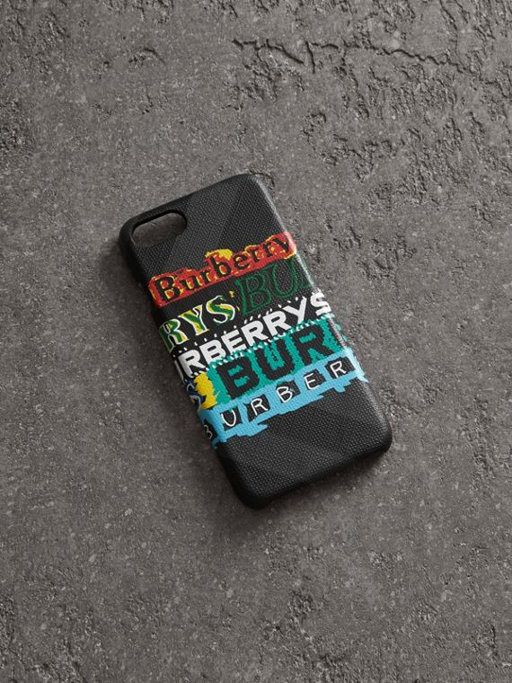 Tag Print London Check iPhone 8 Case in Charcoal
