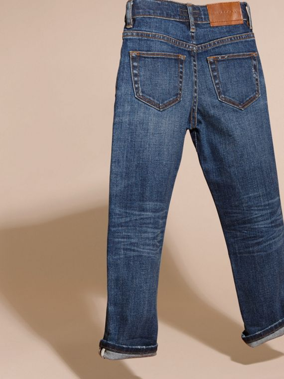 Indigo Relaxed Fit Japanese Stretch Denim Jeans - cell image 3
