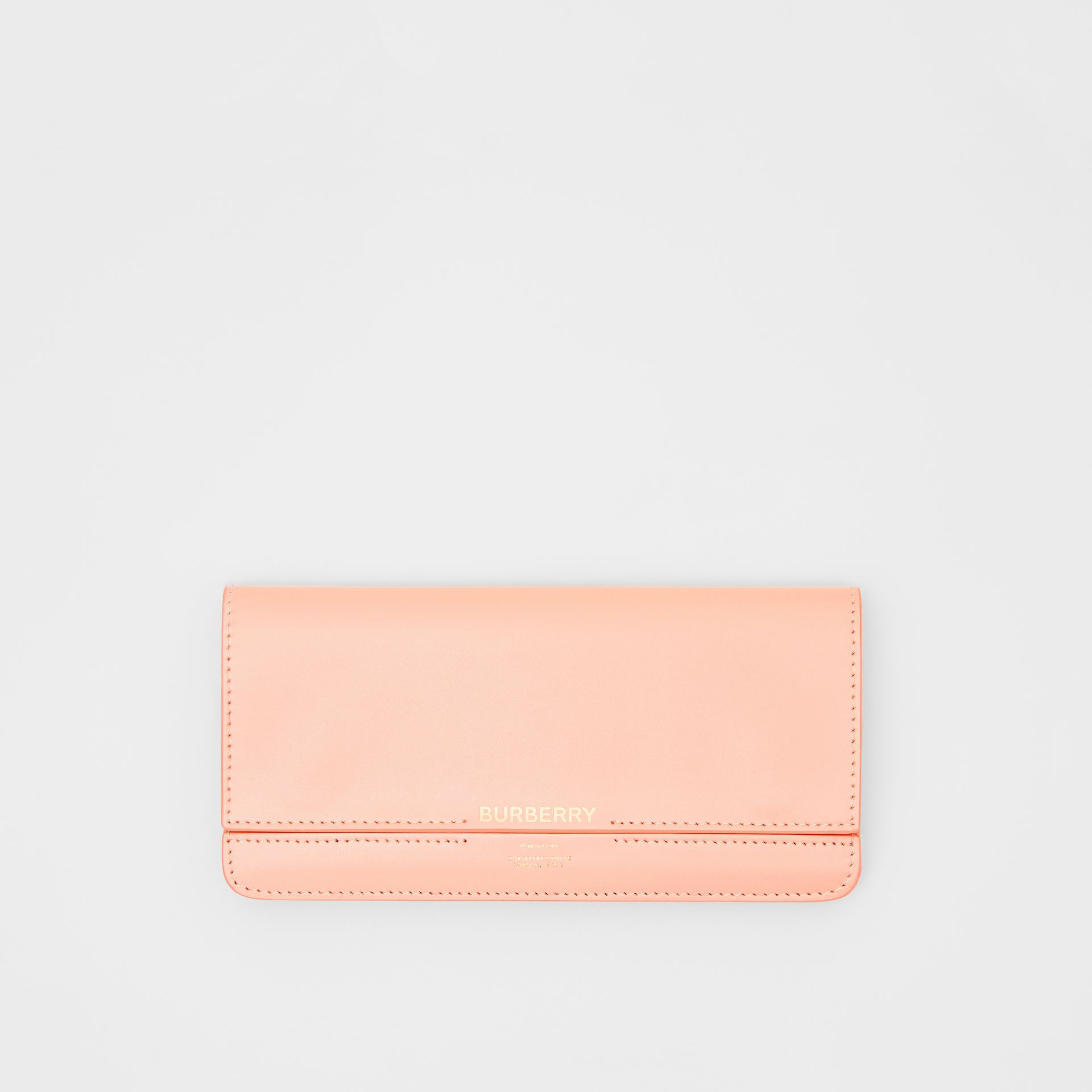Horseferry Embossed Leather Continental Wallet in Blush Pink - Women | Burberry United Kingdom - gallery image 0