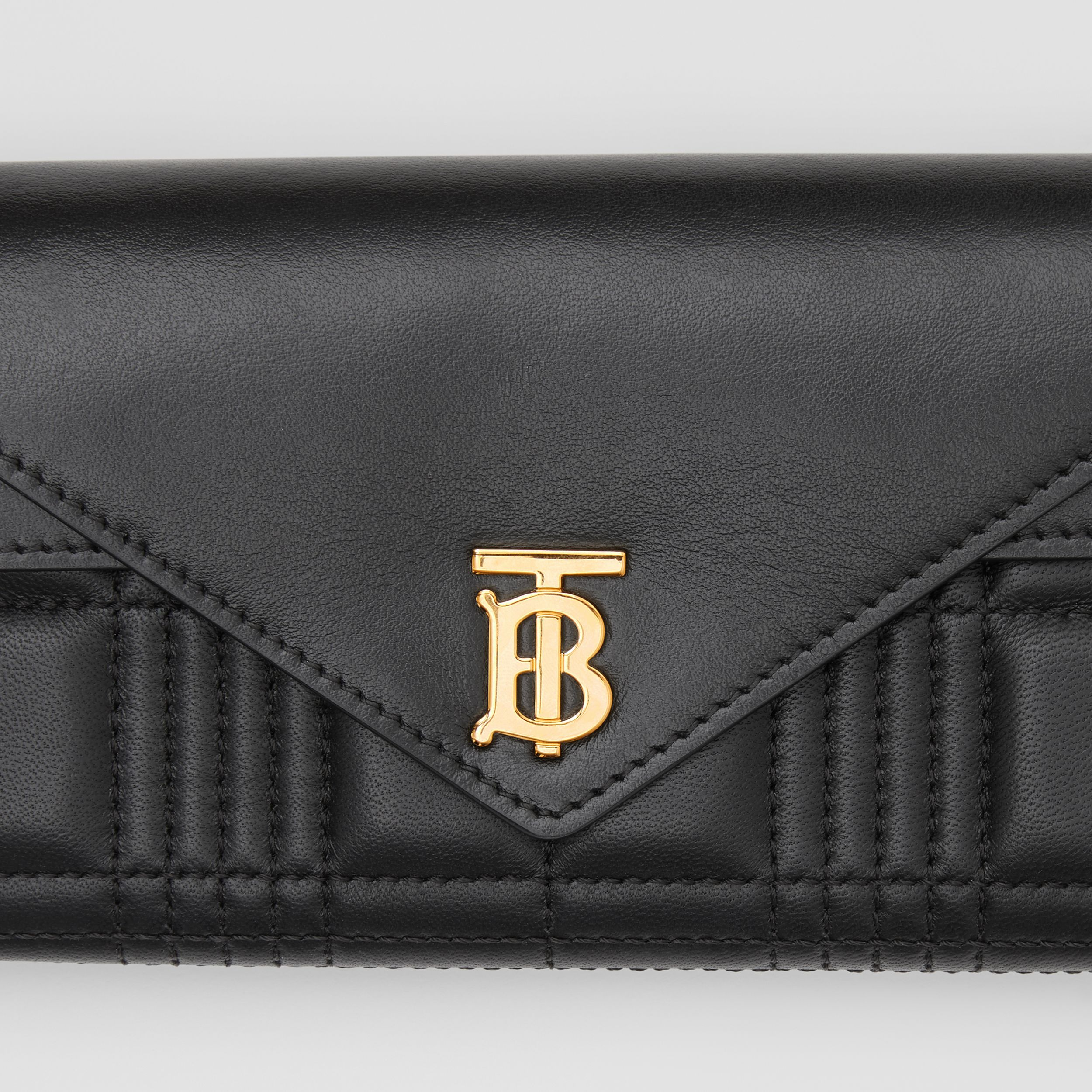 Monogram Motif Quilted Continental Wallet in Black - Women | Burberry - 2