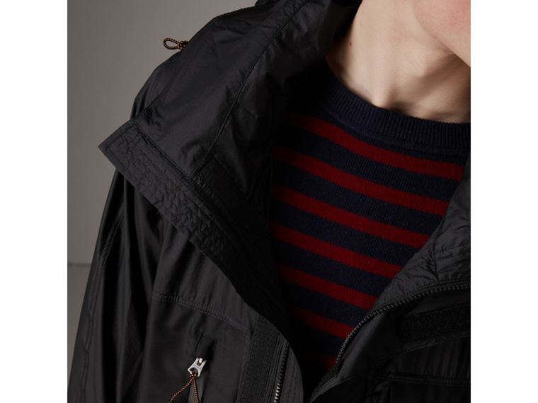 Packaway Hood Funnel-neck Jacket in Black - Men | Burberry Hong Kong - cell image 1