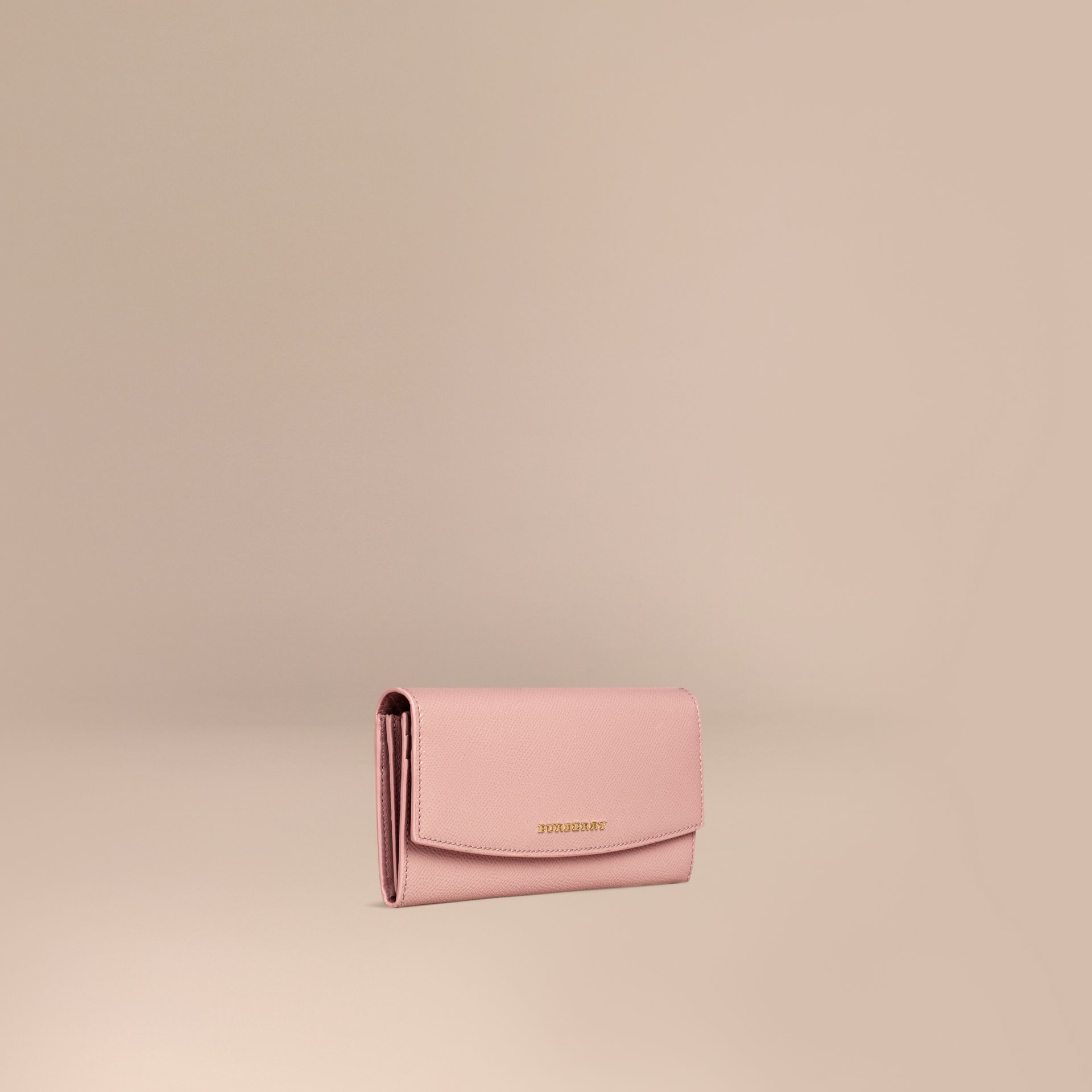 Ash rose Patent London Leather Continental Wallet Ash Rose - gallery image 1