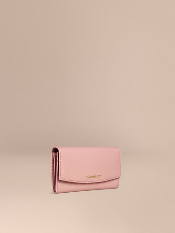 Patent London Leather Continental Wallet Ash Rose