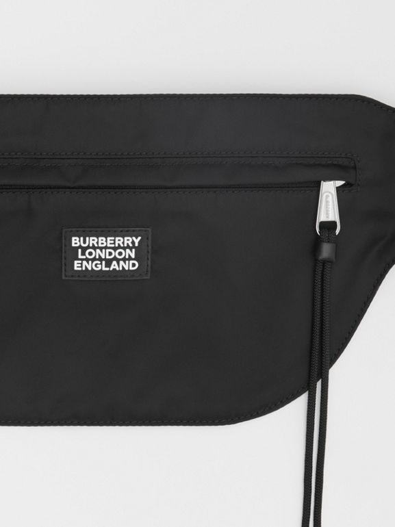 Logo Appliqué ECONYL® Brummell Bum Bag in Black | Burberry - cell image 1