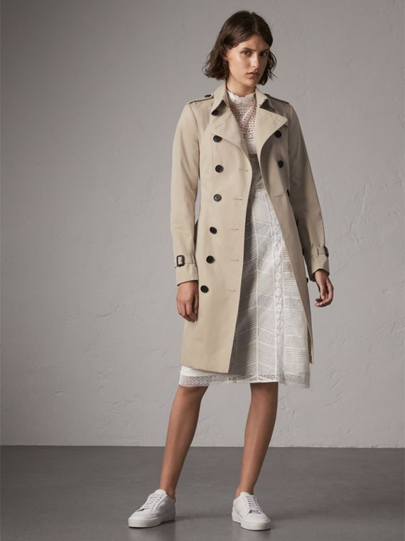 Trench coat Sandringham largo (Piedra)