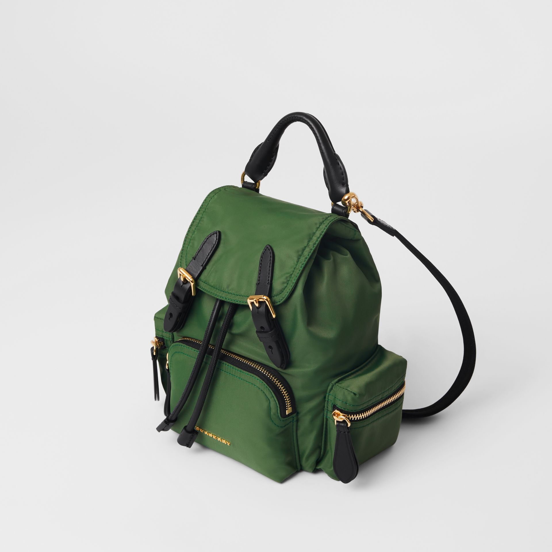 The Small Crossbody Rucksack in Nylon in Racing Green - Women | Burberry United States - gallery image 4