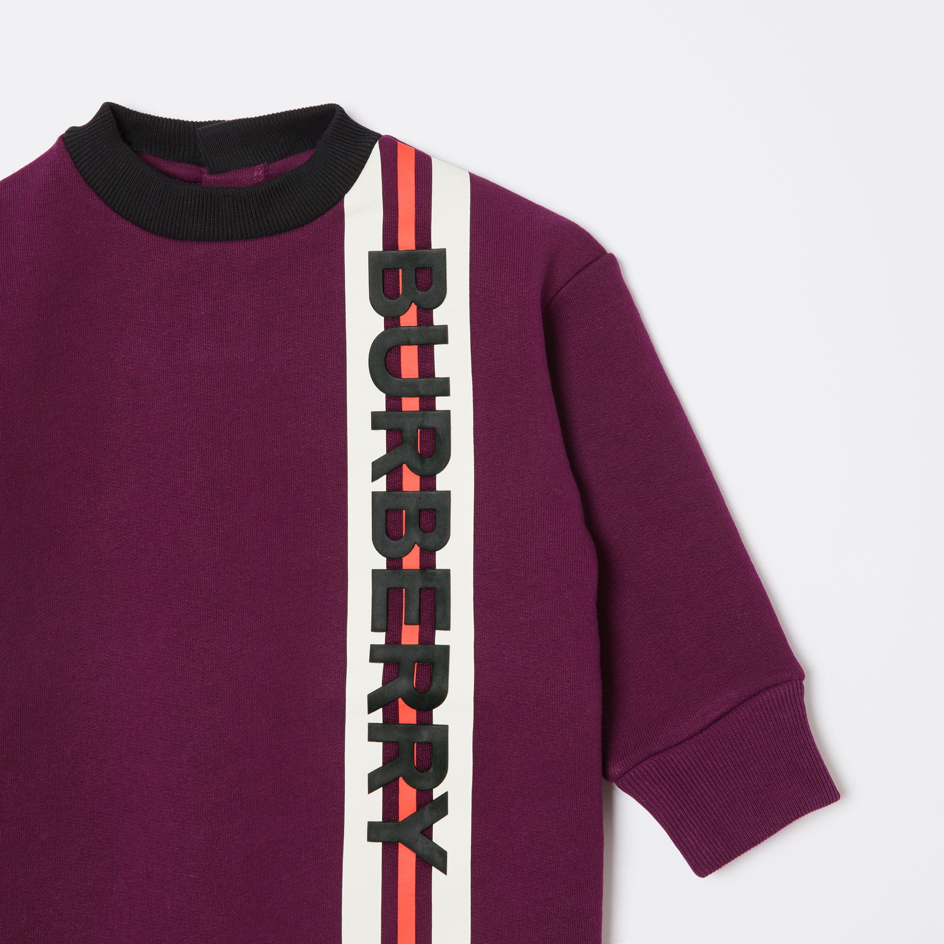 Logo Print Jersey Sweater Dress in Burgundy - Children | Burberry - gallery image 4
