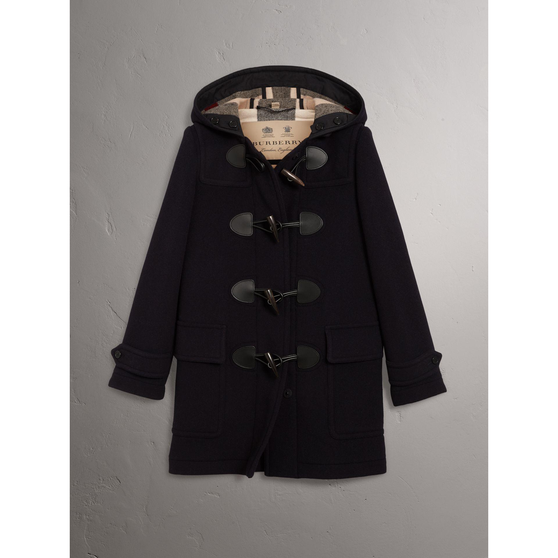 The Mersey Duffle Coat in Navy - Women | Burberry - gallery image 3