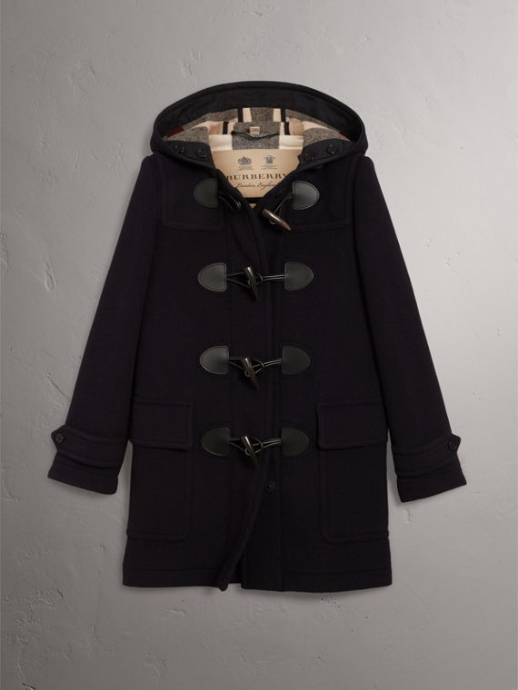 The Mersey Duffle Coat in Navy - Women | Burberry - cell image 3