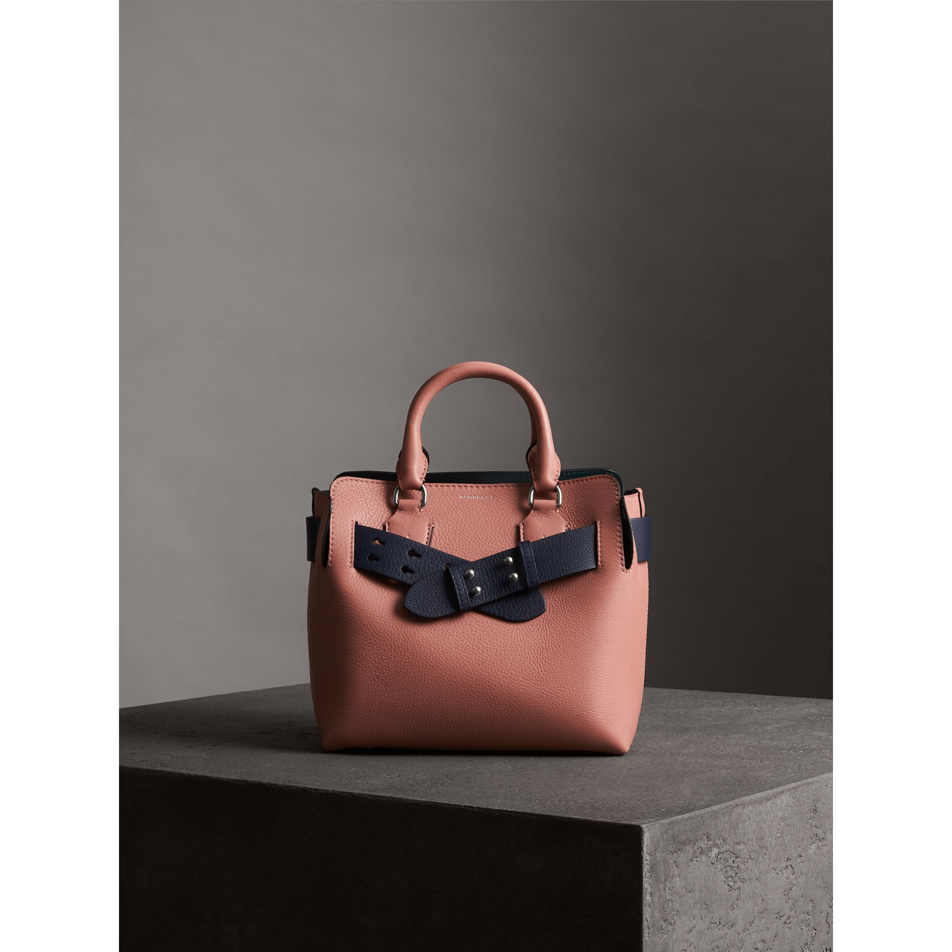 The Small Belt Bag Grainy Leather Belt in Regency Blue - Women | Burberry - gallery image 3