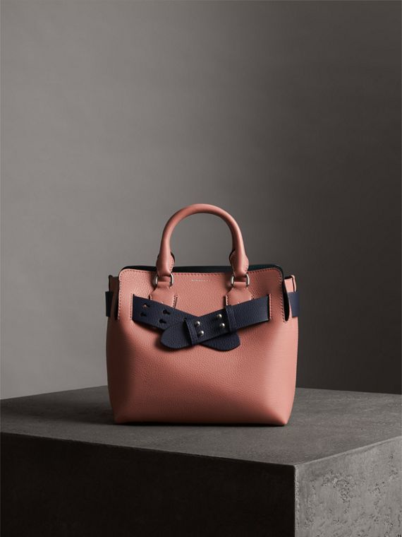 The Small Belt Bag Grainy Leather Belt in Regency Blue - Women | Burberry Hong Kong - cell image 3