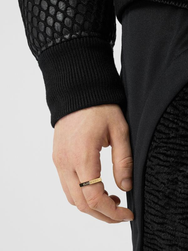 Gold-plated Nut Ring in Light - Men | Burberry - cell image 2