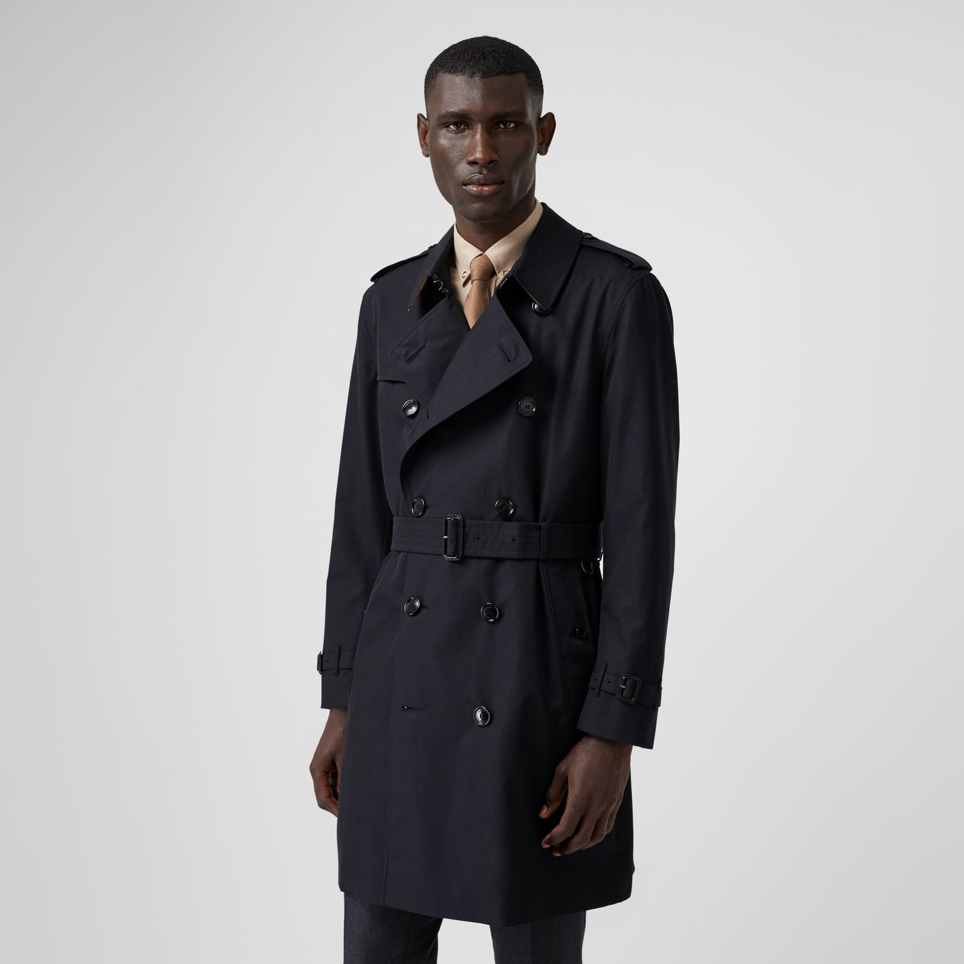 Cotton Gabardine Trench Coat in Midnight - Men | Burberry - gallery image 7