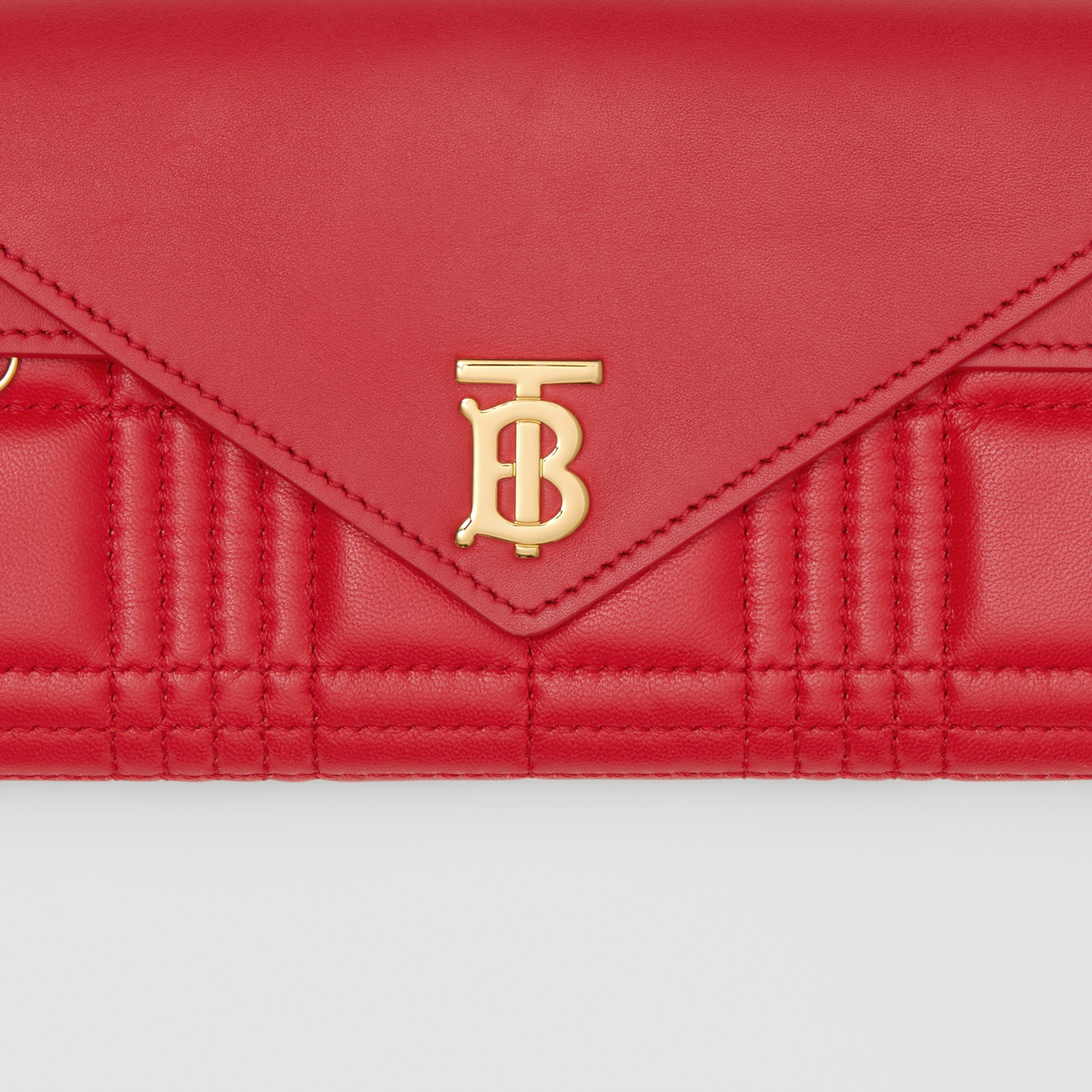 Monogram Motif Quilted Continental Wallet in Bright Red - Women | Burberry - 2