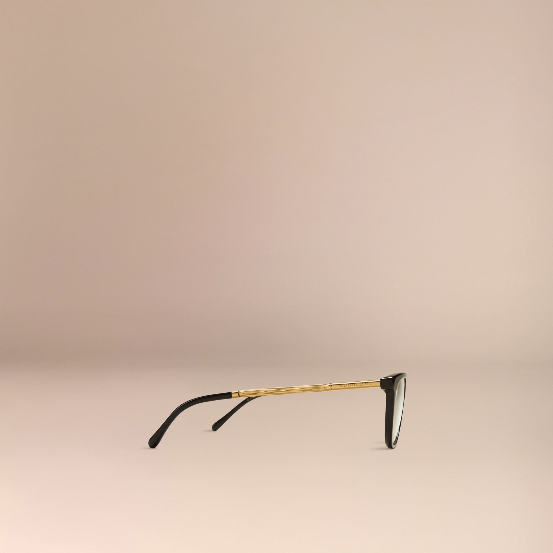 Black Gabardine Collection Cat-Eye Optical Frames Black - gallery image 4