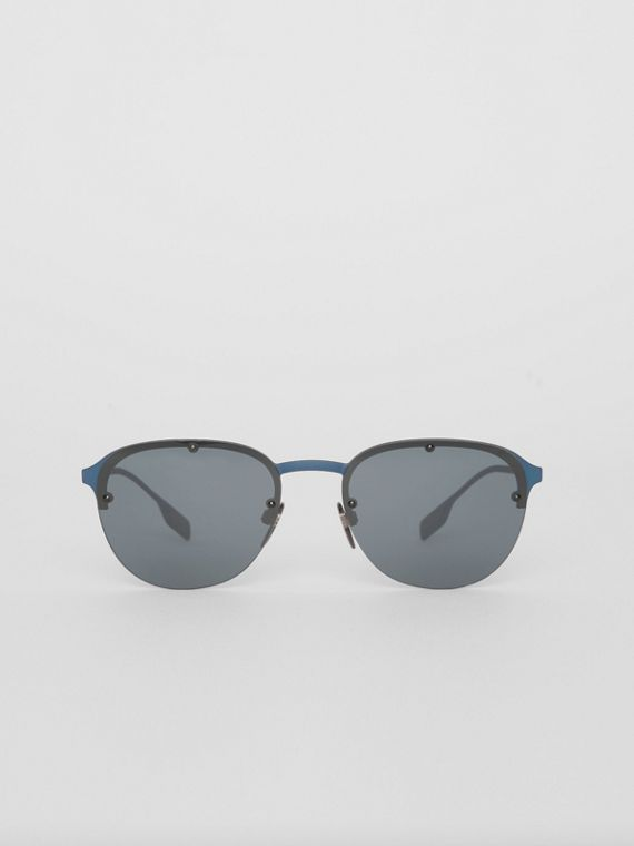Round Frame Sunglasses in Blue