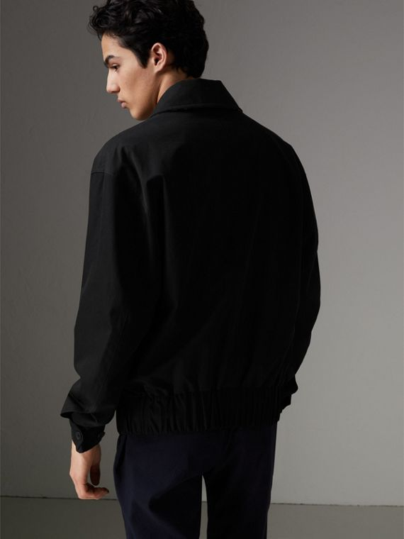 Tropical Gabardine Harrington Jacket in Black - Men | Burberry Australia - cell image 2