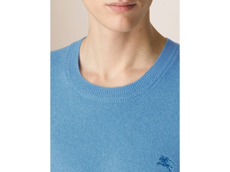 Crew Neck Cashmere Sweater in Pale Blue - Men | Burberry - cell image 2