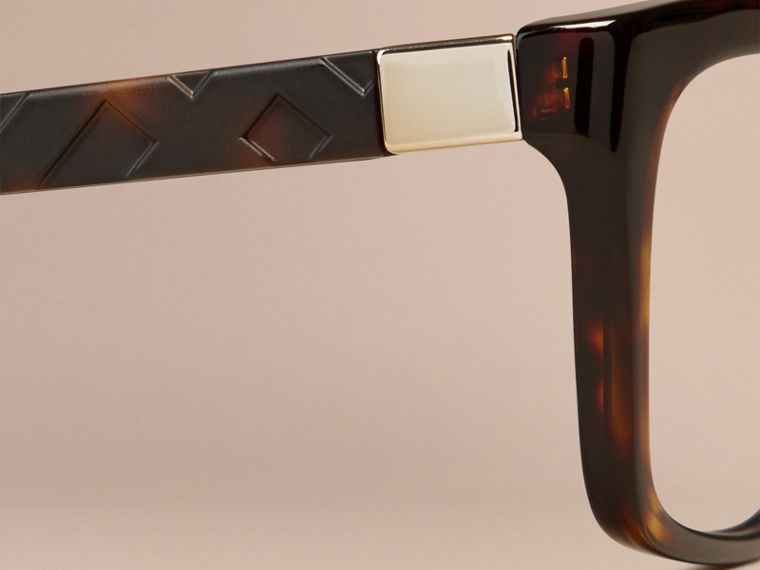 Tortoiseshell Check Detail Rectangular Optical Frames Tortoiseshell - cell image 1