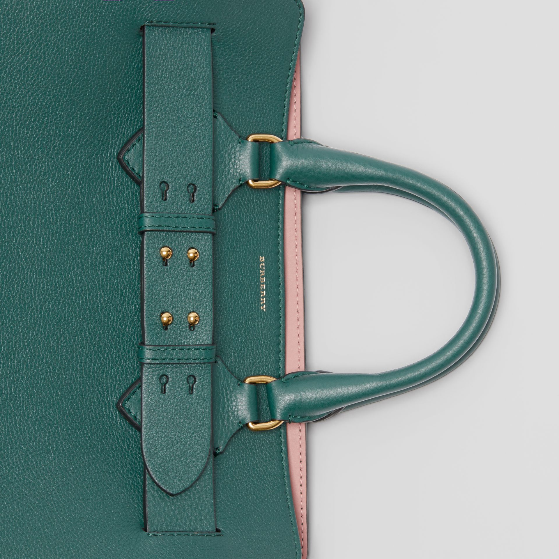 The Medium Leather Belt Bag in Dark Cyan - Women | Burberry United Kingdom - gallery image 1