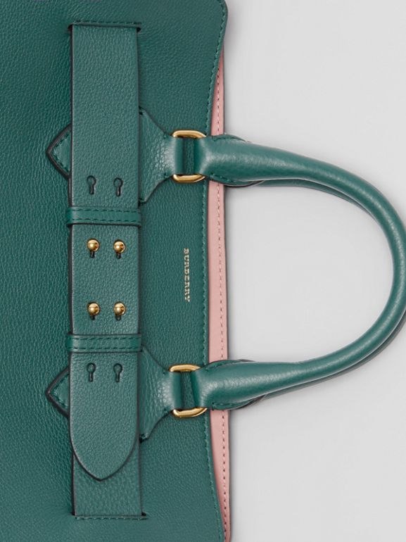 The Medium Leather Belt Bag in Dark Cyan - Women | Burberry United Kingdom - cell image 1
